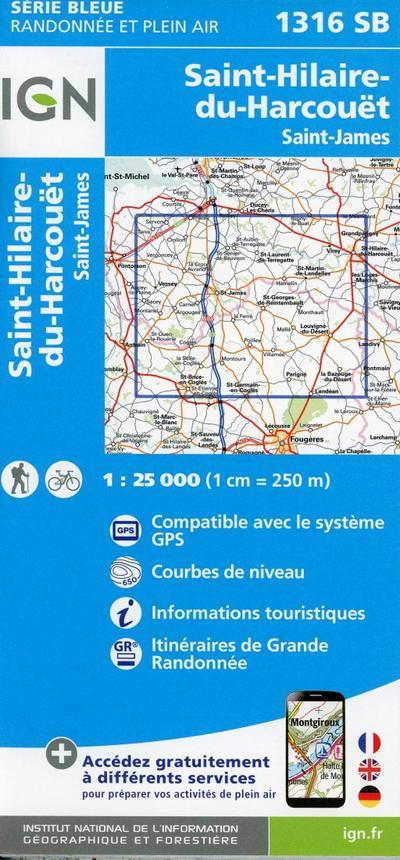 Saint-Hilaire-du-Harcouët.Saint-James 1:25 000