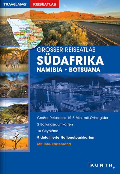 Großer Reiseatlas Südafrika / Namibia / Botsuana 1:1,5 Mio.