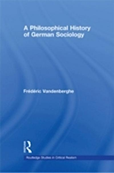 Philosophical History of German Sociology