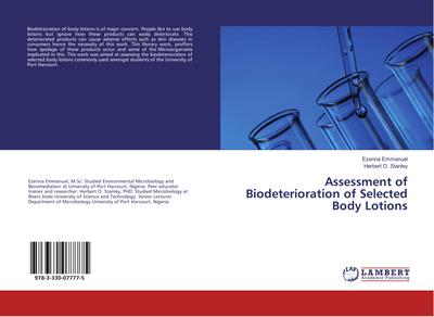 Assessment of Biodeterioration of Selected Body Lotions