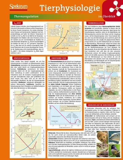 Lerntafel: Tierphysiologie im Überblick (Lerntafeln Biologie)