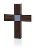Holzkreuz klein - Nussbaum - Motiv Pax