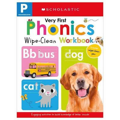 Wipe-Clean Workbook: Pre-K Very First Phonics (Scholastic Early Learners)