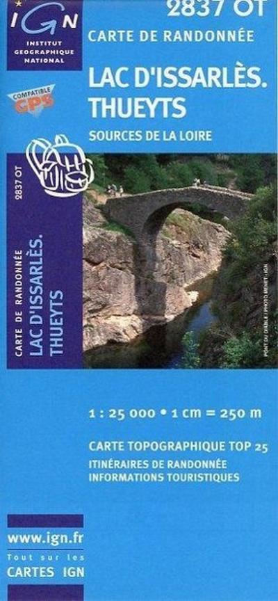 Lac d`Issarlès 1 : 25 000