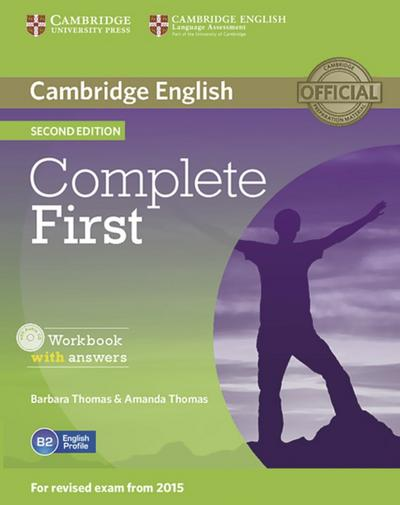 Complete First: Second edition. Workbook with answers with Audio CD