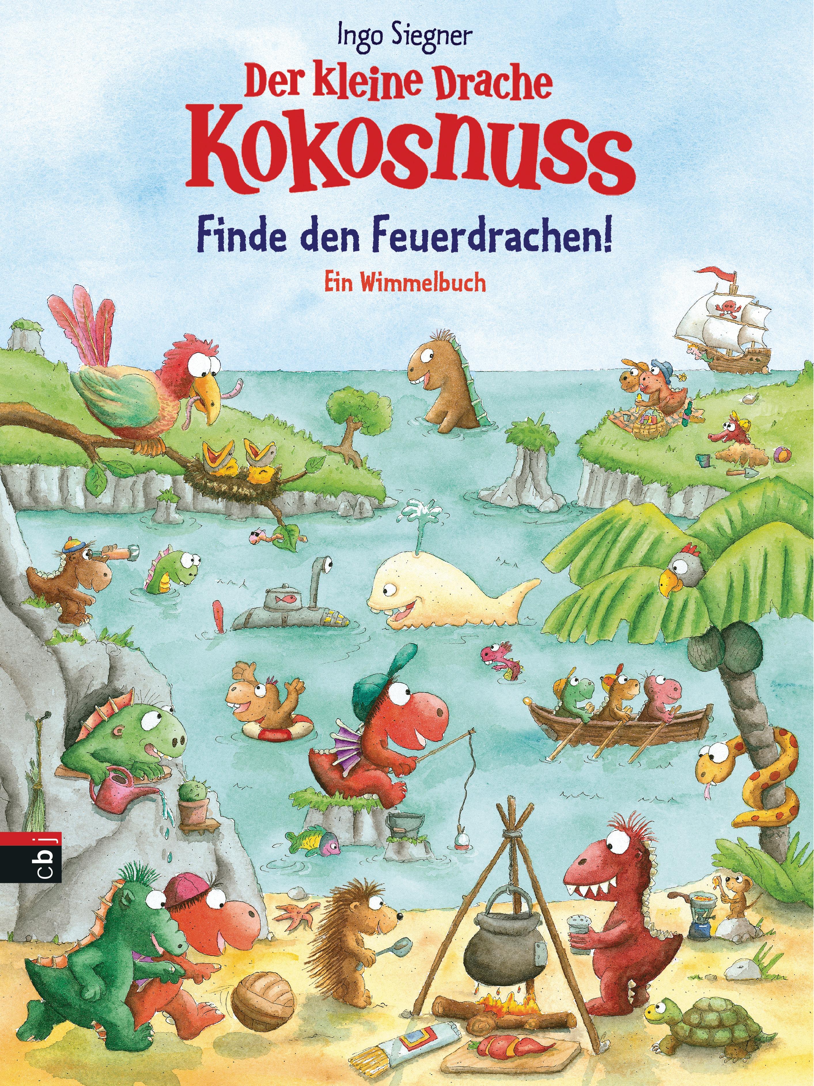 Der kleine Drache Kokosnuss - Finde den Feuerdrachen!: Ein Wimmelbuch (Spie ...