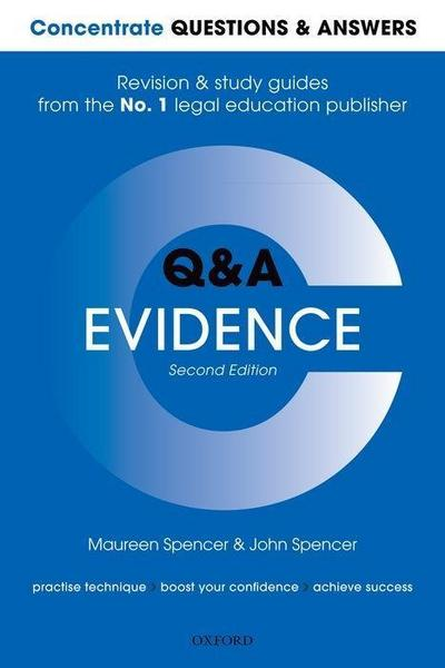 Concentrate Questions and Answers Evidence: Law Q&A Revision and Study Guide
