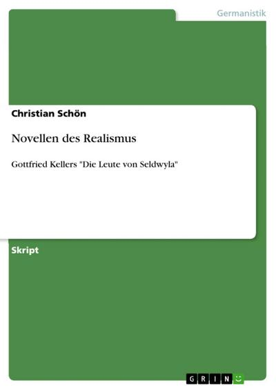 Novellen des Realismus