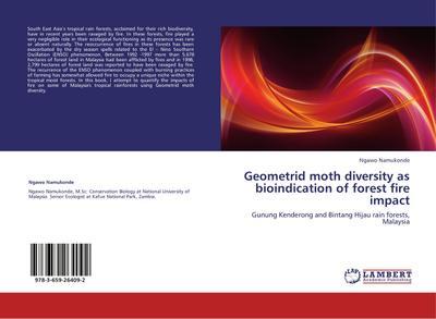 Geometrid moth diversity as bioindication of forest fire impact