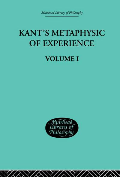 Kant's Metaphysic of Experience