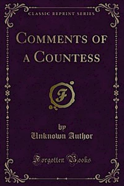 Comments of a Countess