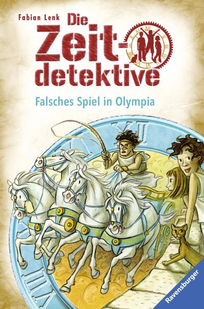 Falsches Spiel in Olympia   ; Die Zeitdetektive 10; Materialien zur Unterrichtspraxis unter ISBN 978-3-473-98079-6; Ill. v. Kunert, Almud; Deutsch; , schw.-w. Ill. -