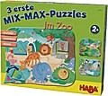 3 erste Mix-Max-Puzzles - Im Zoo