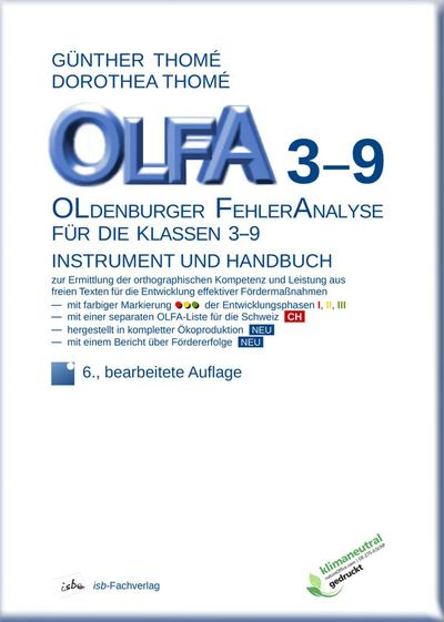 OLFA 3-9: Oldenburger Fehleranalyse für die Klassen 3-9