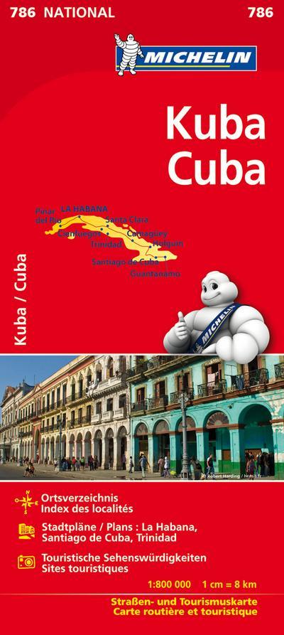 Michelin Nationalkarte Kuba / Cuba 1 : 800 000