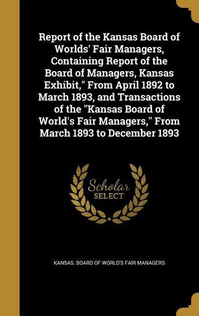 REPORT OF THE KANSAS BOARD OF