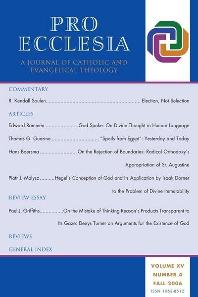 Pro Ecclesia Vol 15-N4
