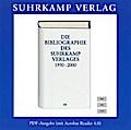 Die Bibliographie des Suhrkamp Verlages 1950-2000