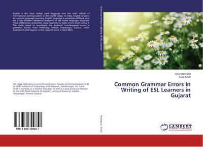 Common Grammar Errors in Writing of ESL Learners in Gujarat