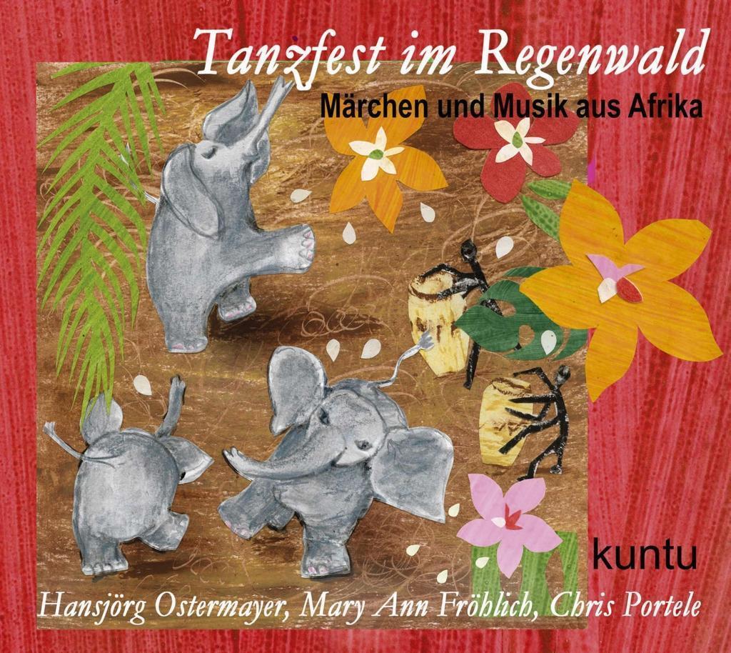 Tanzfest im Regenwald von Afrika Kuntu