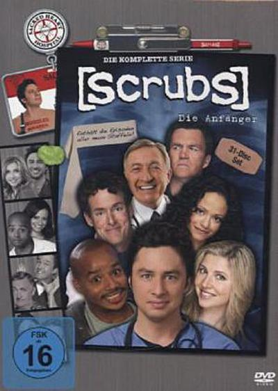 Scrubs - Komplettbox. Staffel.1-9, 31 DVDs