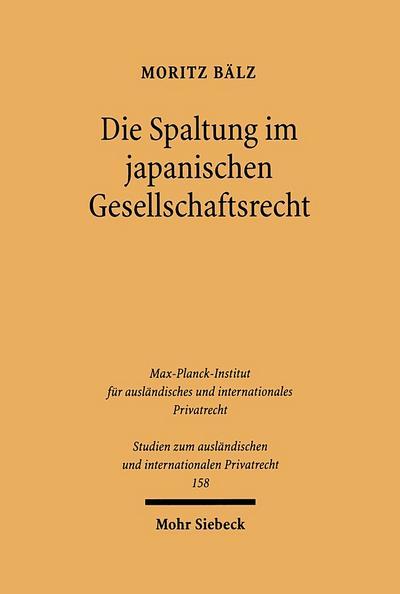 Die Spaltung im japanischen Gesellschaftsrecht