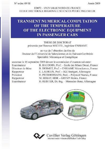 Transient Numerical Computation of the Temperature of the Electronic Equipment in Passenger Cars