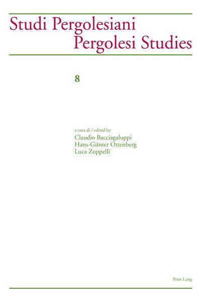 Studi Pergolesiani.  Pergolesi Studies