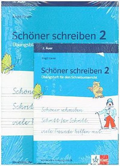 Schöner schreiben Schritt für Schritt, viele Freunde helfen mit. Vereinfachte Ausgangsschrift 2. Jahrgangsstufe + DIN A5 Übungsheft