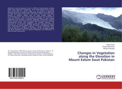 Changes in Vegetation along the Elevation in Mount Eelum Swat Pakistan