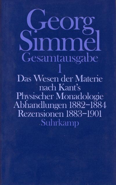 Das Wesen der Materie nach Kant's Physischer Monadologie