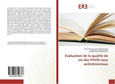 Evaluation de la qualité de vie des PVVIH sous antirétroviraux