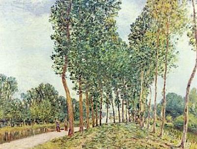 Alfred Sisley - Ufer der Loing bei Moret - 200 Teile (Puzzle)