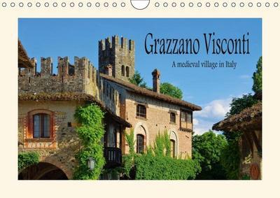 Grazzano Visconti (Wall Calendar 2019 DIN A4 Landscape)