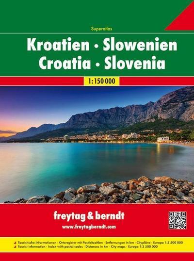 Kroatien / Slowenien 1 : 150 000. Superatlas