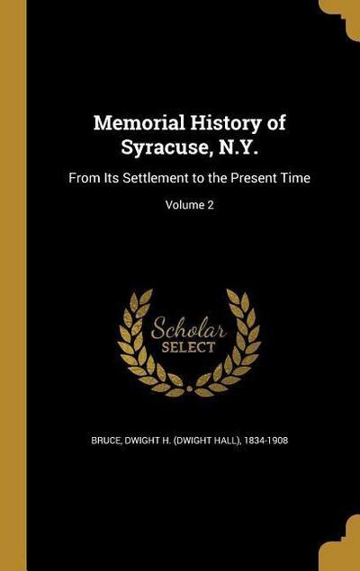 MEMORIAL HIST OF SYRACUSE NY