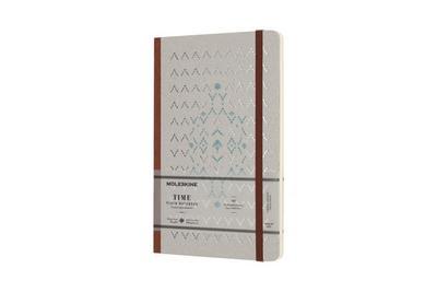 Moleskine Notizbuch - Time, L/A5, Blanko, Hard Cover, Braun