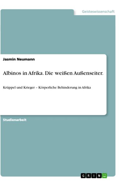 Albinos in Afrika. Die weißen Außenseiter.