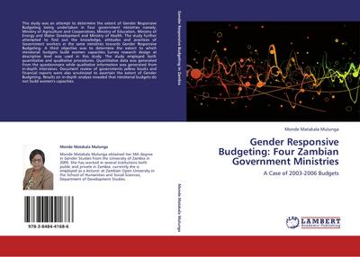 Gender Responsive Budgeting: Four Zambian Government Ministries