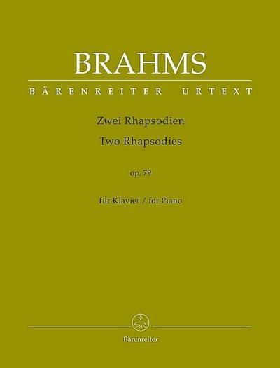 Zwei Rhapsodien für Klavier op. 79