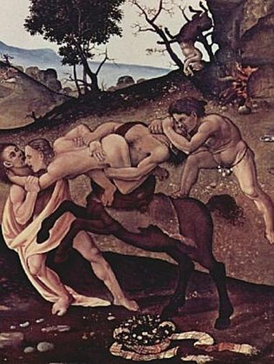 Piero di Cosimo - Die Schlacht der Kentauren und Lapithen, Detail - 200 Teile (Puzzle)