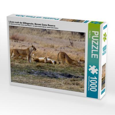 Löwen nach der Mittagsruhe, Moremi Game Reserve (Puzzle)