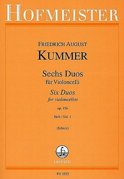 6 Duos op.156 Band 1für 2 Violoncelli
