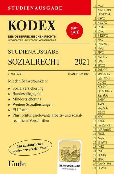 KODEX Studienausgabe Sozialrecht 2021