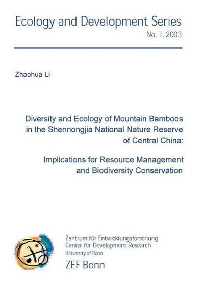 Diversity and Ecology of Mountain Bamboos in the Shennongjia National Reserve of Central chiana