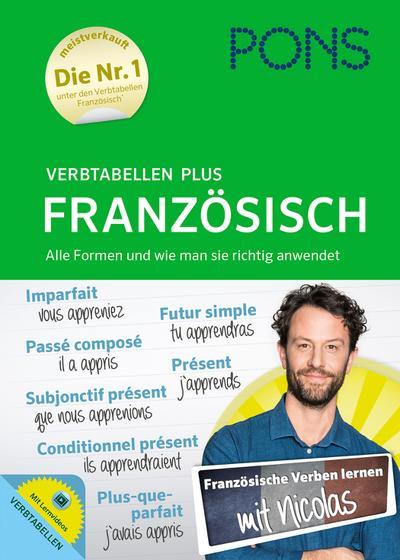 PONS Verbtabellen Plus Französisch - Mit persönlichem Lehrer, Lernvideos und Online-Übungen