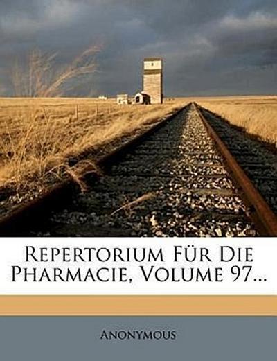Repertorium für die Pharmacie.