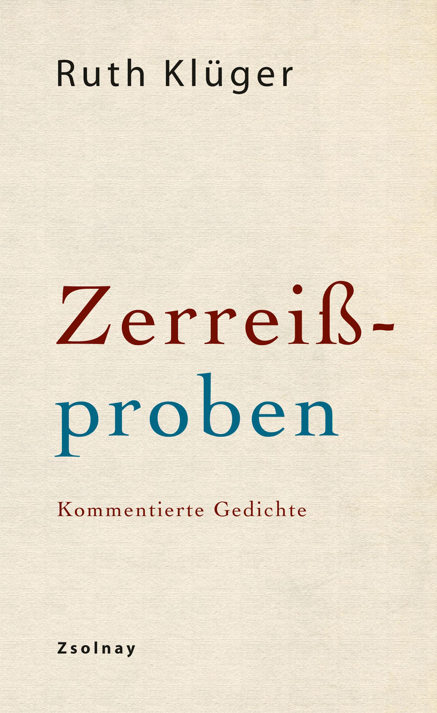 Zerreißproben Ruth Klüger 9783552056411