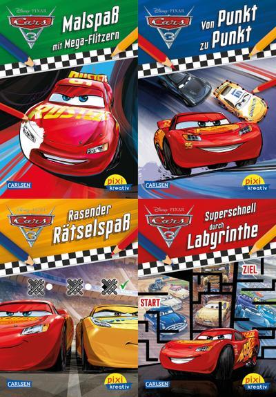 Pixi kreativ Serie Nr. 29: 4er Bundle 29: 4er Bundle: Disney: Cars 3