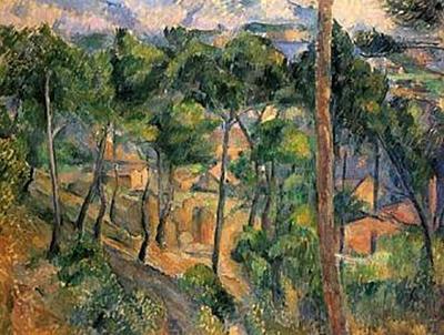 Paul Cézanne - L'Estaque, Blick durch die Kiefern - 100 Teile (Puzzle)